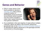 genes and behavior