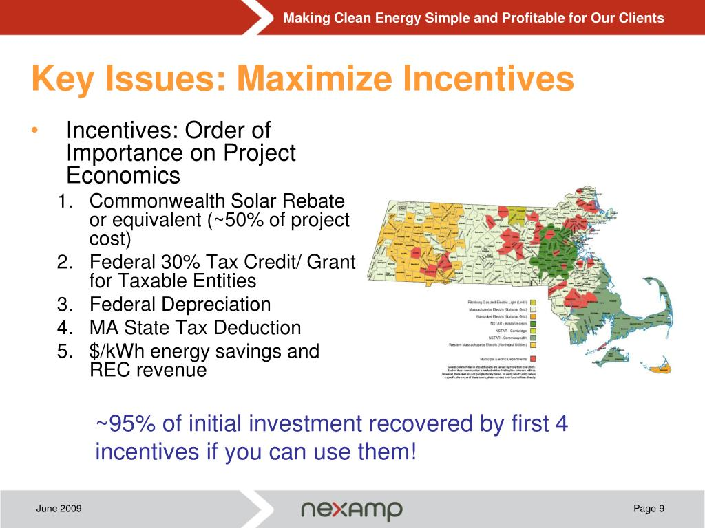 Key Issues: Maximize Incentives