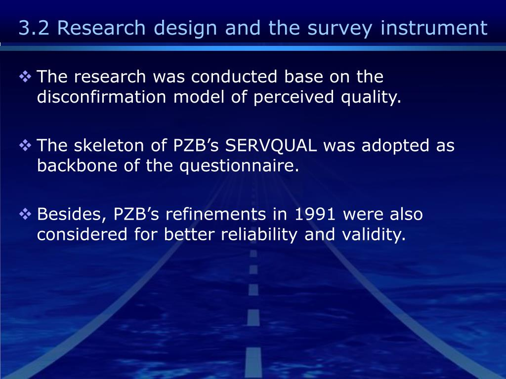 3.2 Research design and the survey instrument