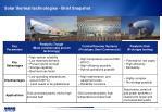 solar thermal technologies brief snapshot