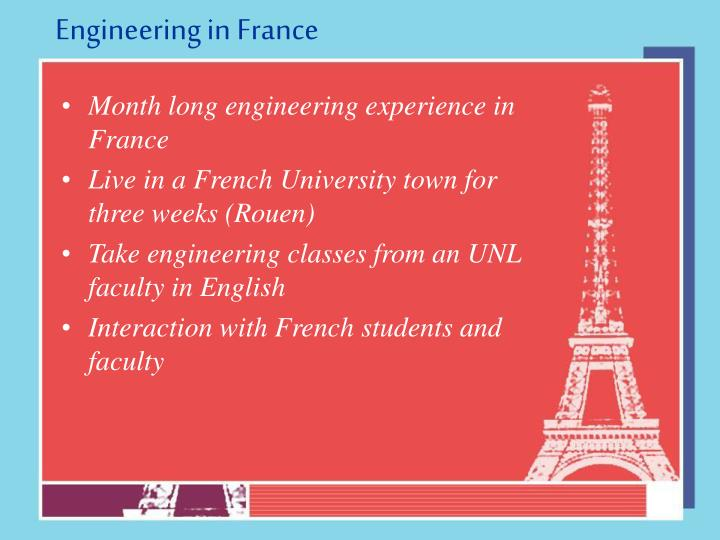 Engineering in france3