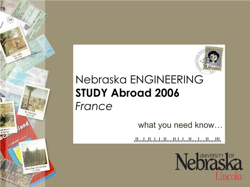 Nebraska ENGINEERING