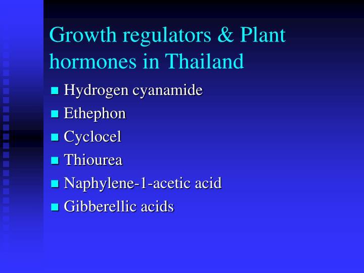 Growth regulators & Plant hormones in Thailand