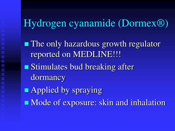 Hydrogen cyanamide (Dormex