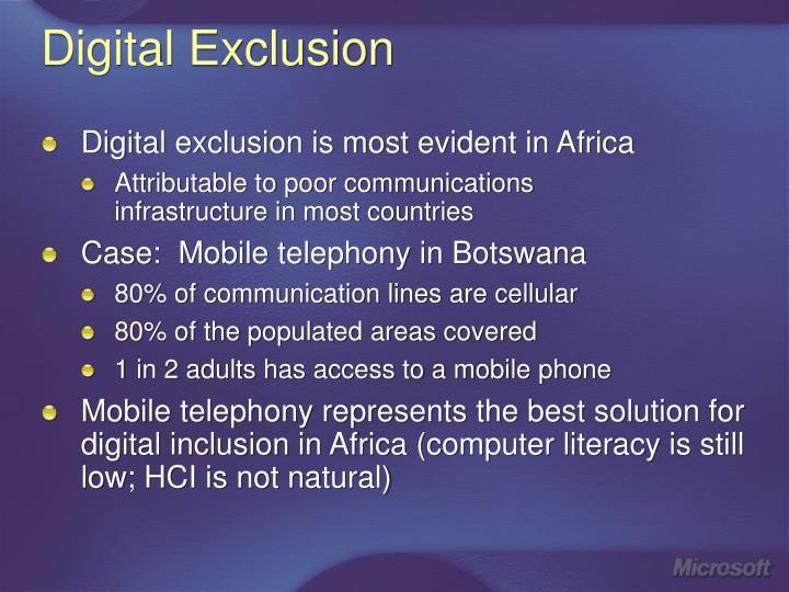 Digital Exclusion