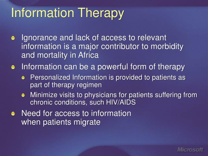 Information Therapy