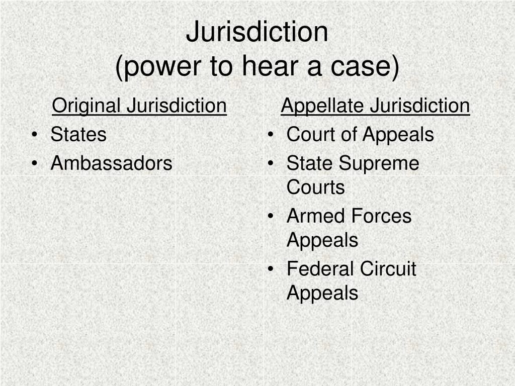 Original Jurisdiction