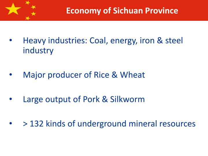 Economy of Sichuan Province