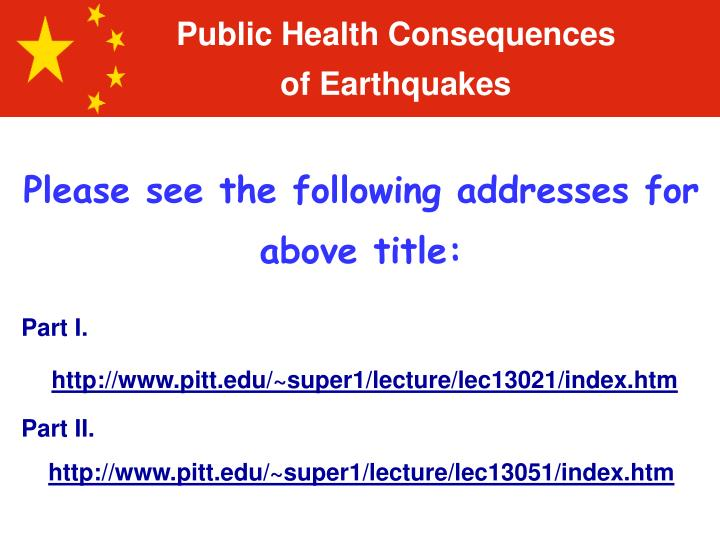 Public Health Consequences