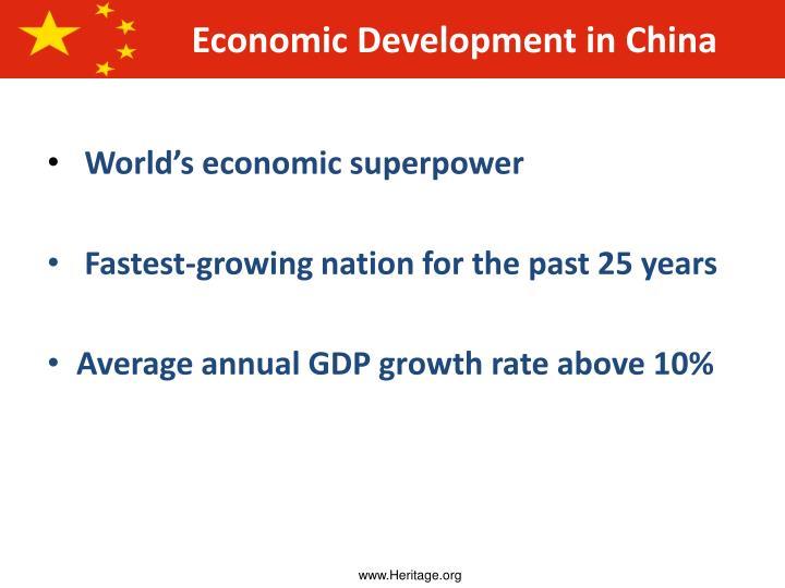World's economic superpower