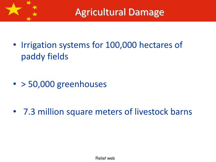 Irrigation systems for 100,000 hectares of paddy fields