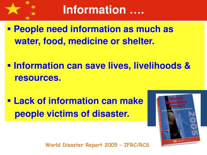 Information ….