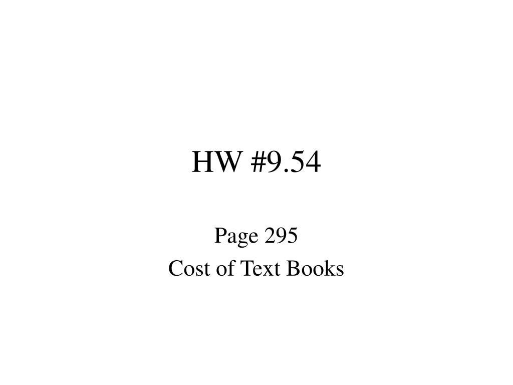 HW #9.54