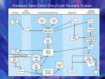 database sales order entry cash receipts system