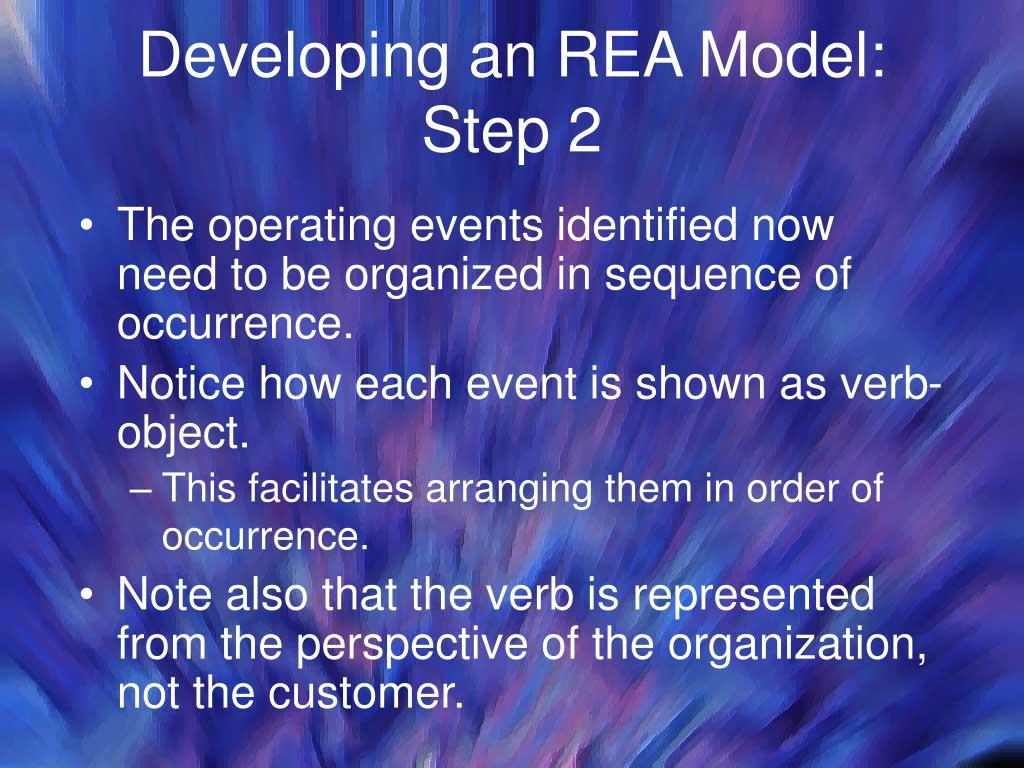 Developing an REA Model:
