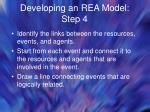 developing an rea model step 4