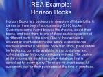 rea example horizon books