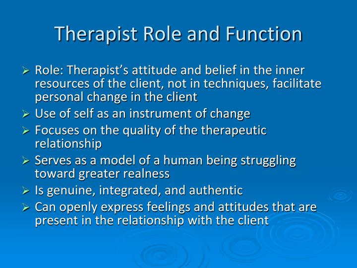 person centered therapy personal model of helping Published: mon, 5 dec 2016 in this essay, the theory of person centred counselling and skills for best practice will be identified this will also show the use of my listening skills, use of the core conditions and how i manage the time boundaries of a session.