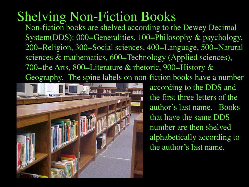 Shelving Non-Fiction Books