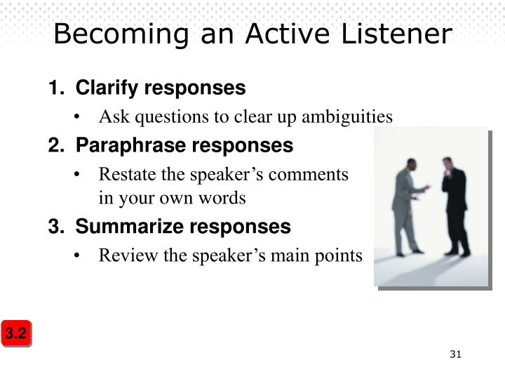 Becoming an Active Listener