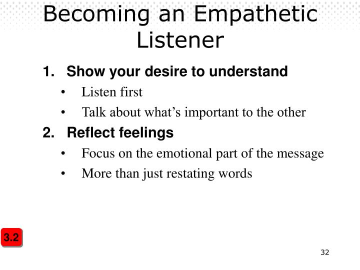 Becoming an Empathetic Listener