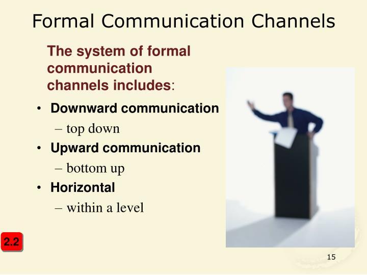 Formal Communication Channels