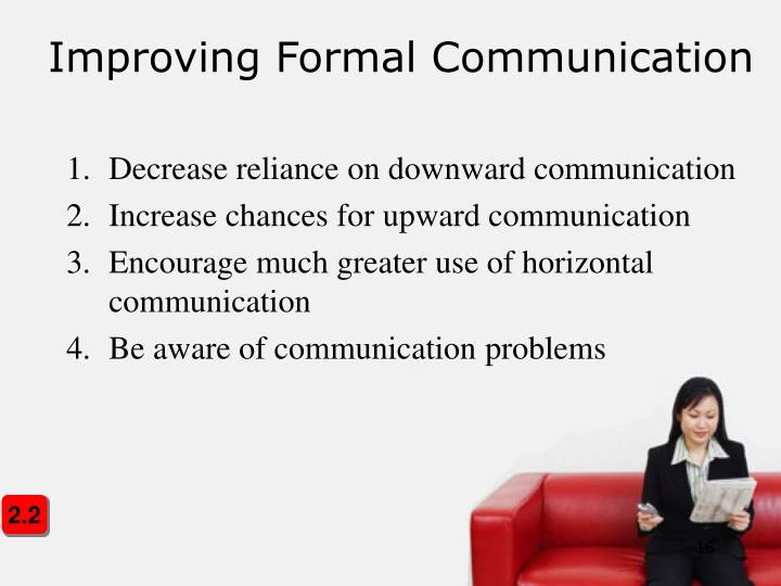 Improving Formal Communication
