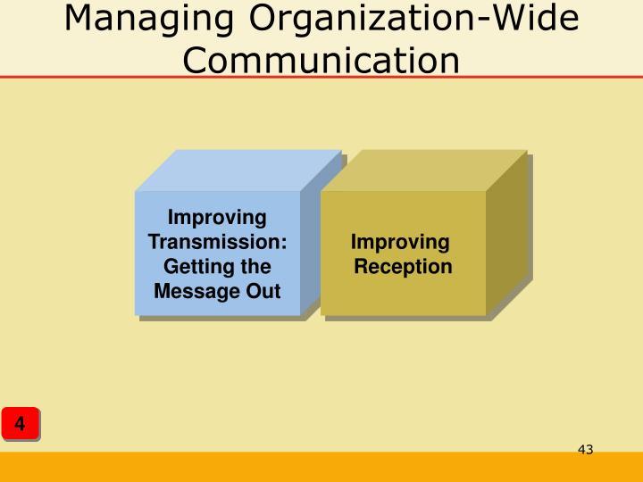 Managing Organization-Wide Communication
