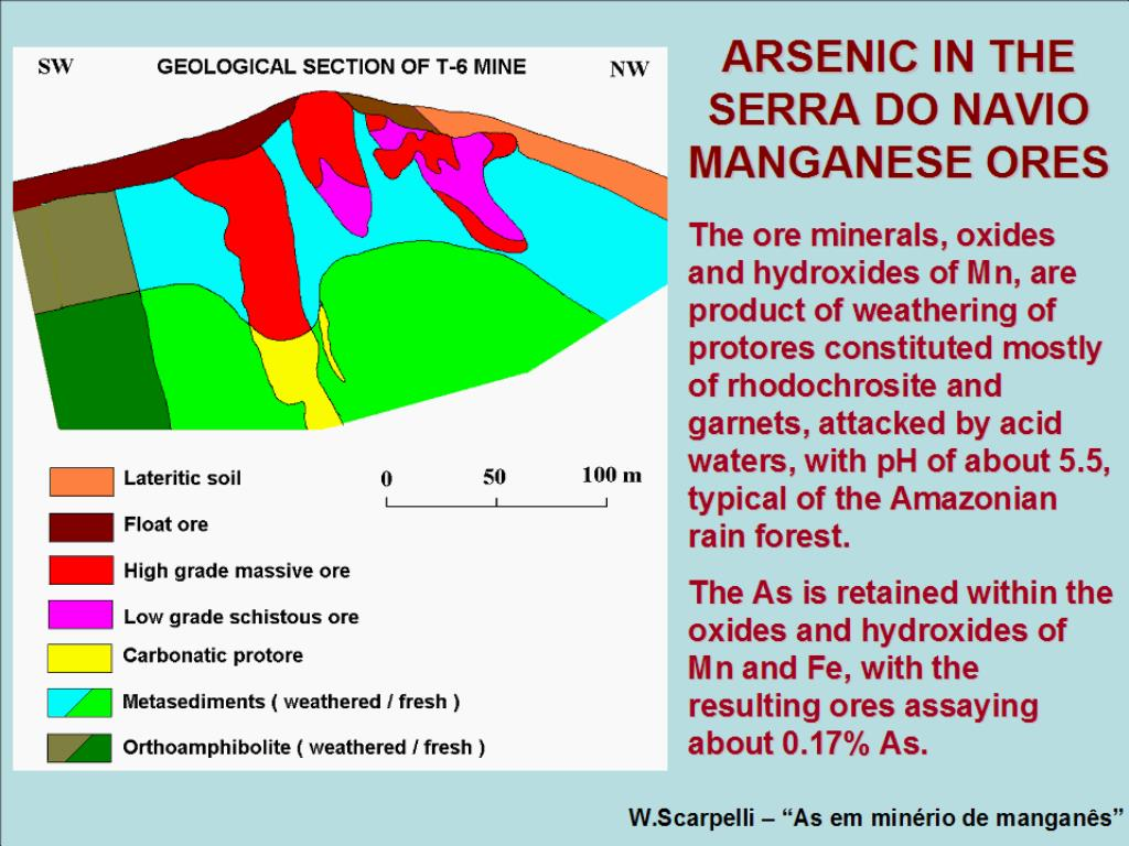 ARSENIC IN THE SERRA DO NAVIO MANGANESE ORES