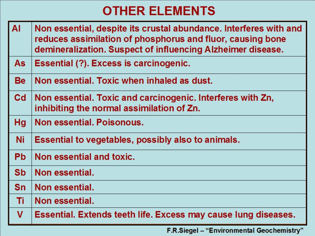 OTHER ELEMENTS