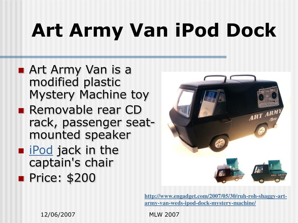 Art Army Van iPod Dock
