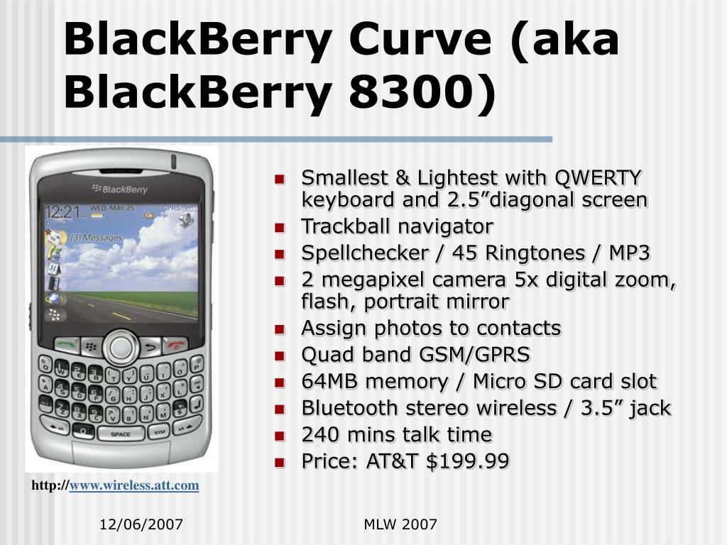 BlackBerry Curve (aka BlackBerry 8300)