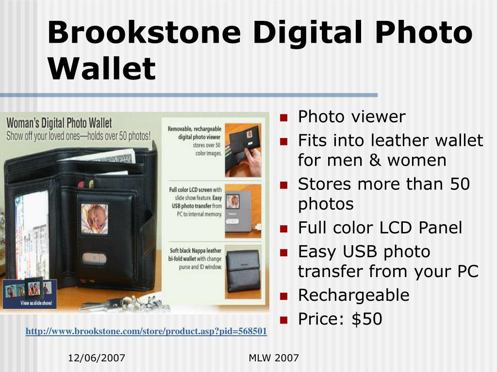 Brookstone Digital Photo Wallet
