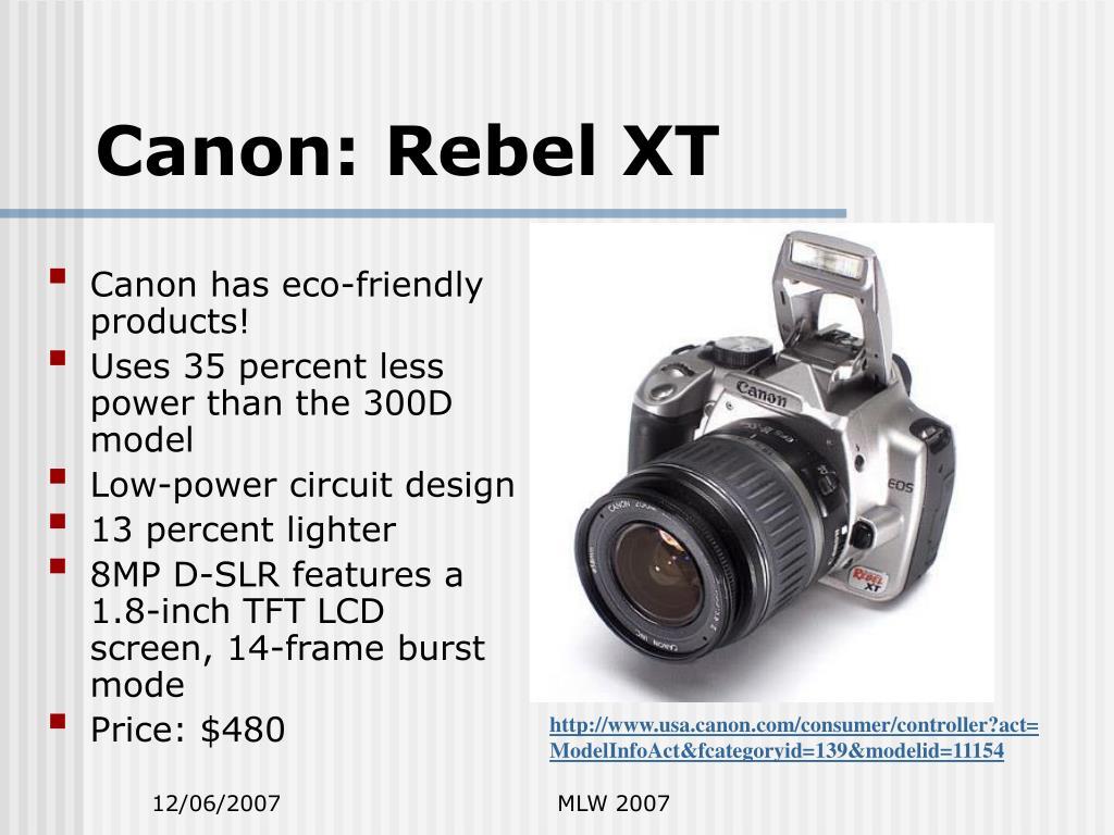 Canon: Rebel XT