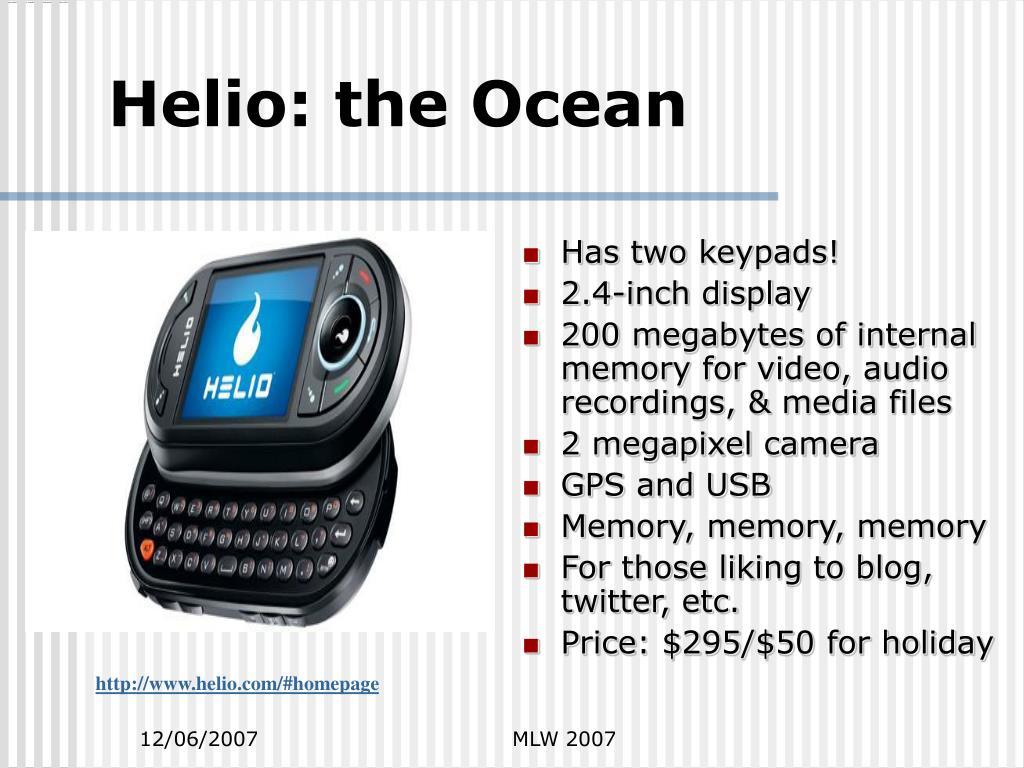 Helio: the Ocean