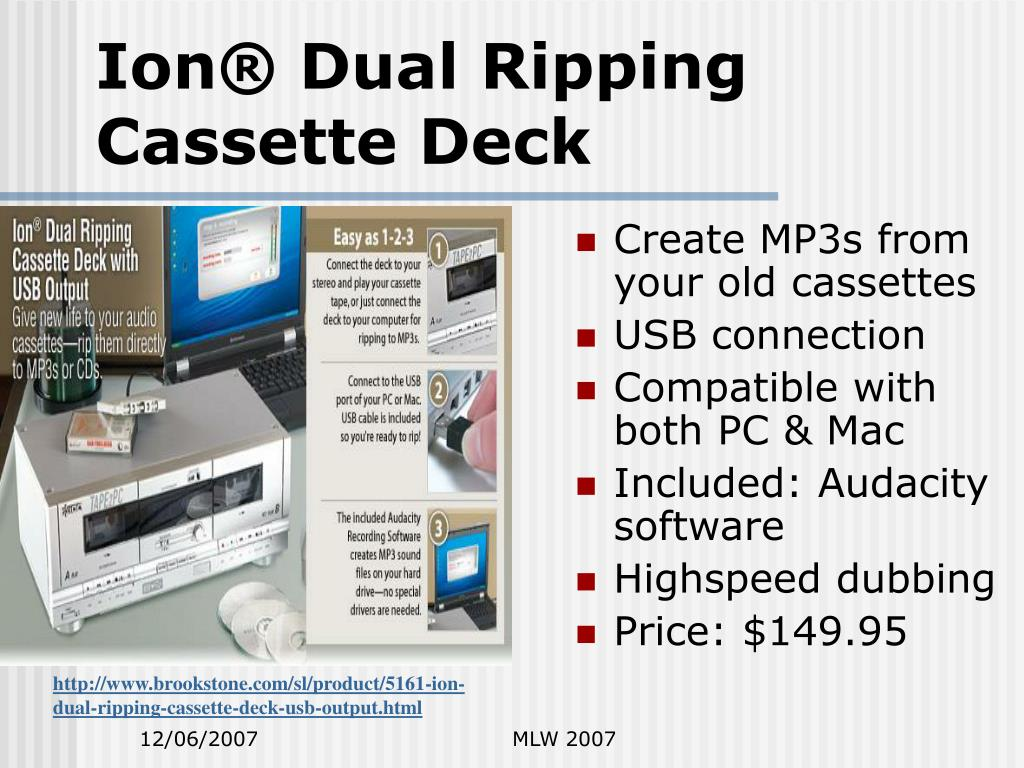 Ion® Dual Ripping Cassette Deck