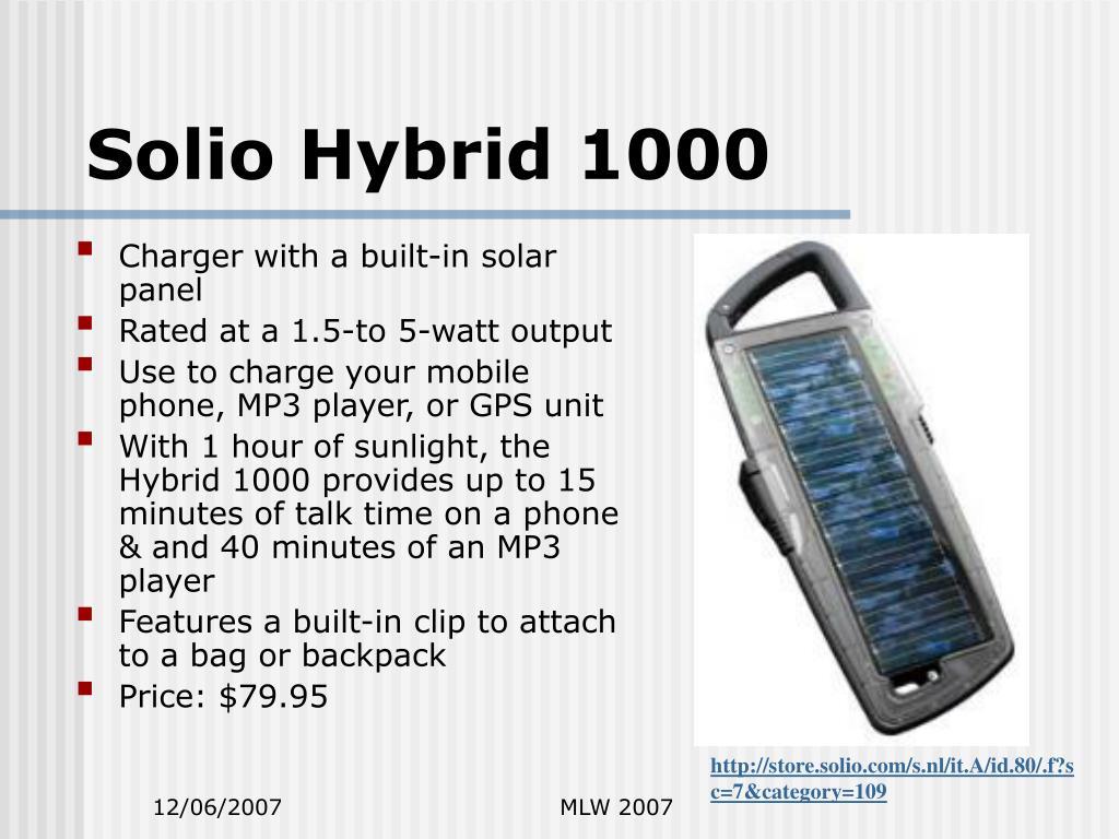 Solio Hybrid 1000
