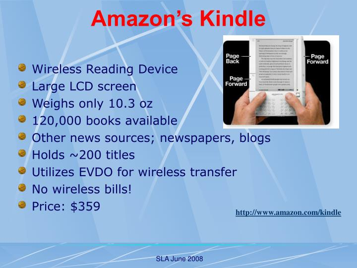 Amazon s kindle