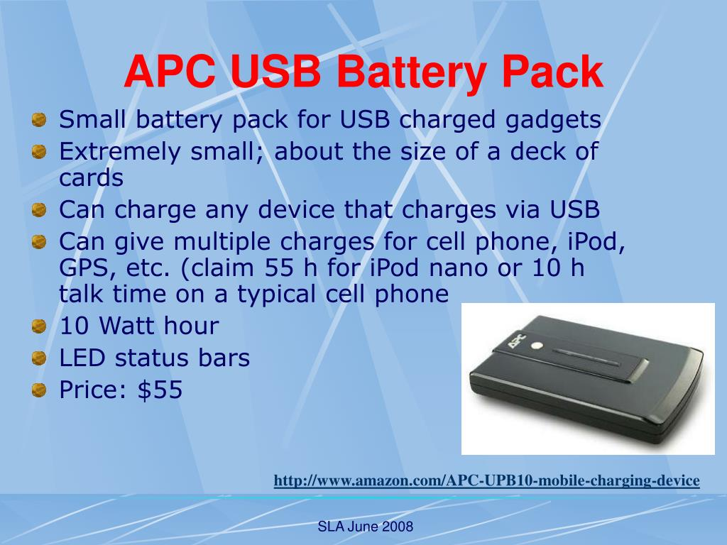 APC USB Battery Pack