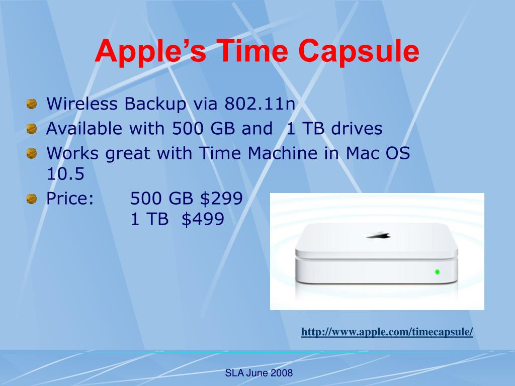 Apple's Time Capsule