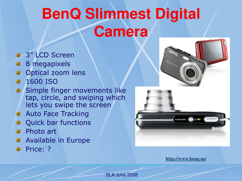 BenQ Slimmest Digital Camera
