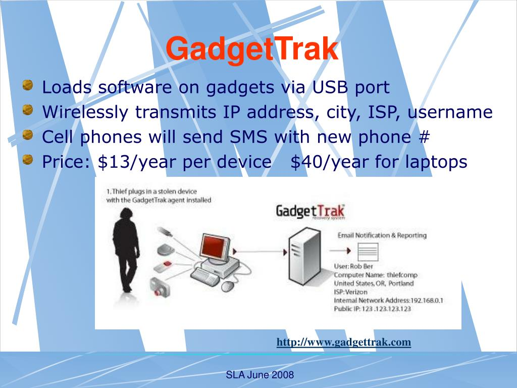 Loads software on gadgets via USB port