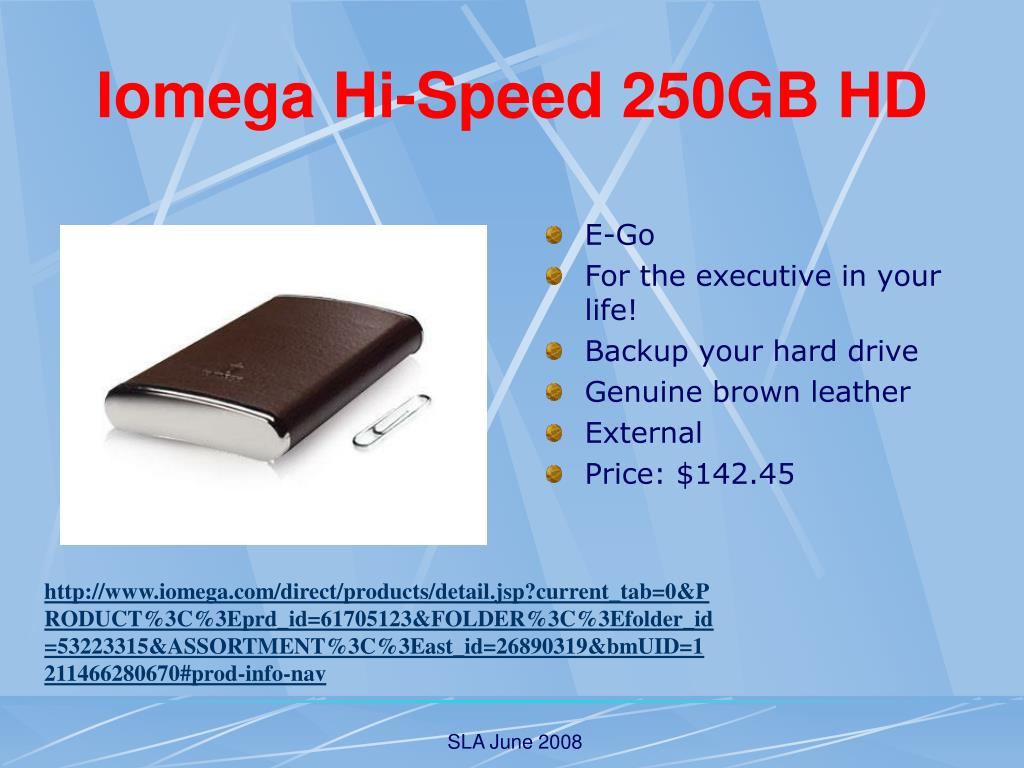 Iomega Hi-Speed 250GB HD
