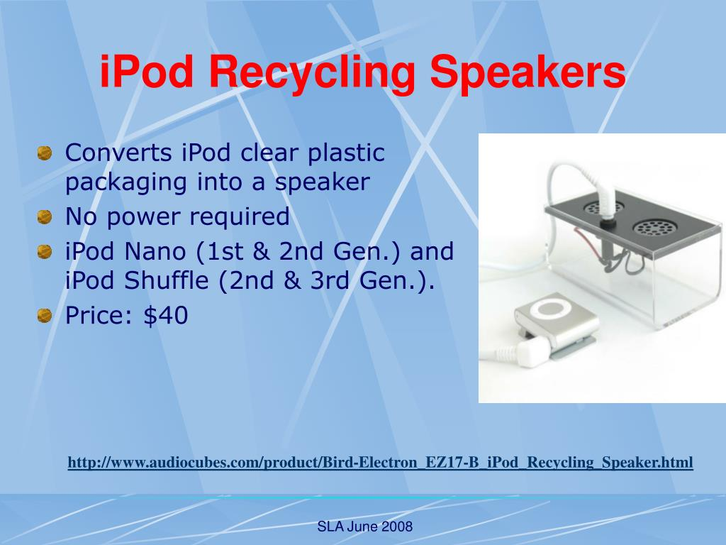 iPod Recycling Speakers