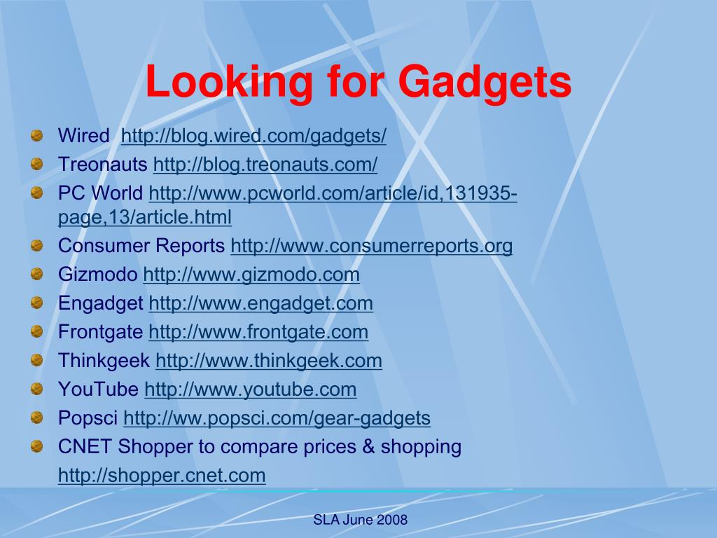Looking for Gadgets