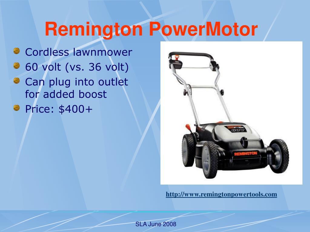 Cordless lawnmower