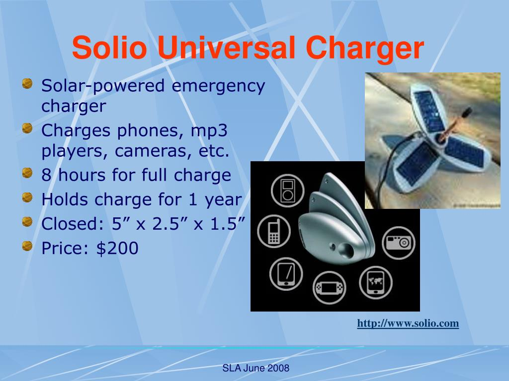 Solar-powered emergency charger