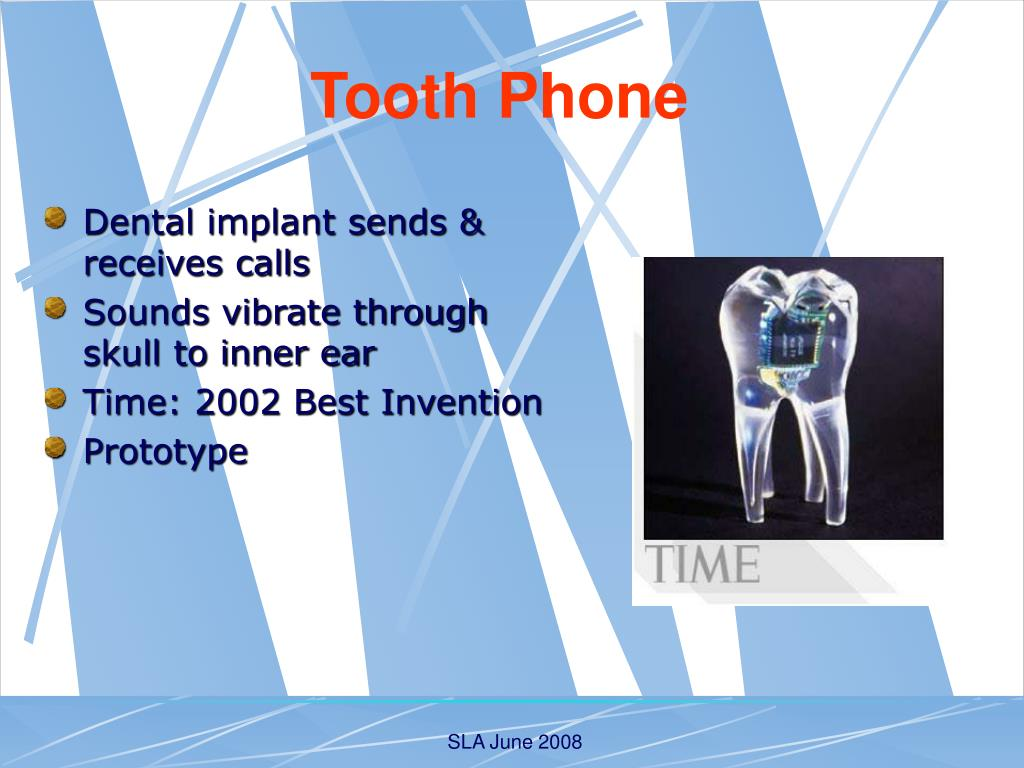 Dental implant sends & receives calls