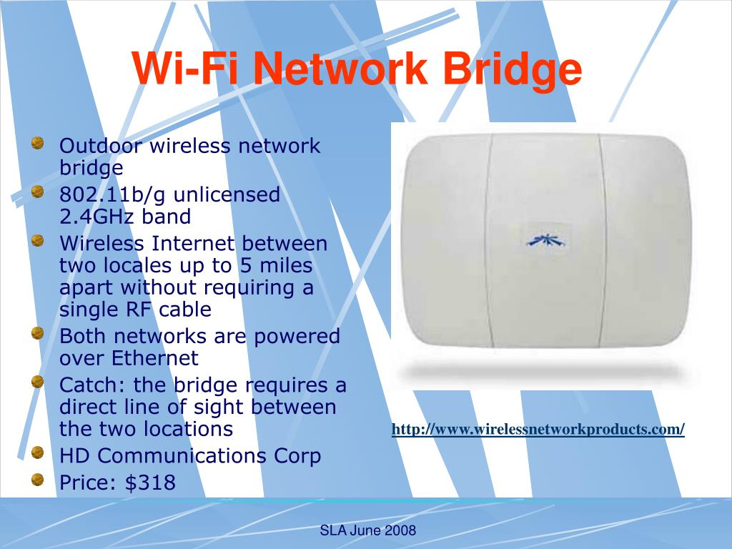 Outdoor wireless network bridge