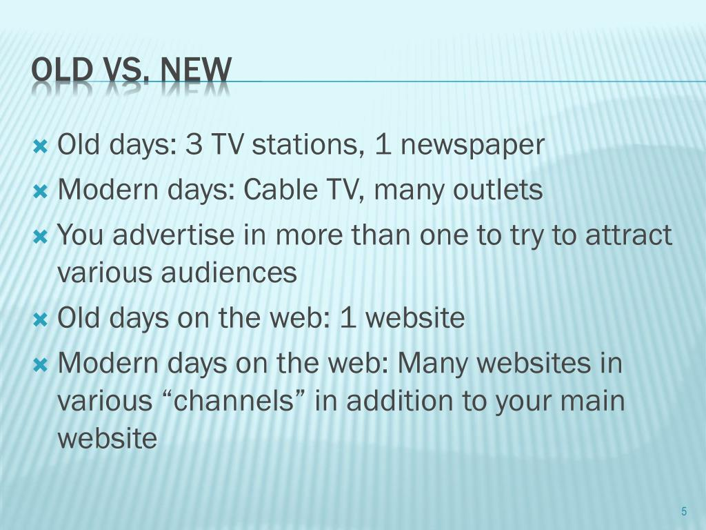 Old days: 3 TV stations, 1 newspaper